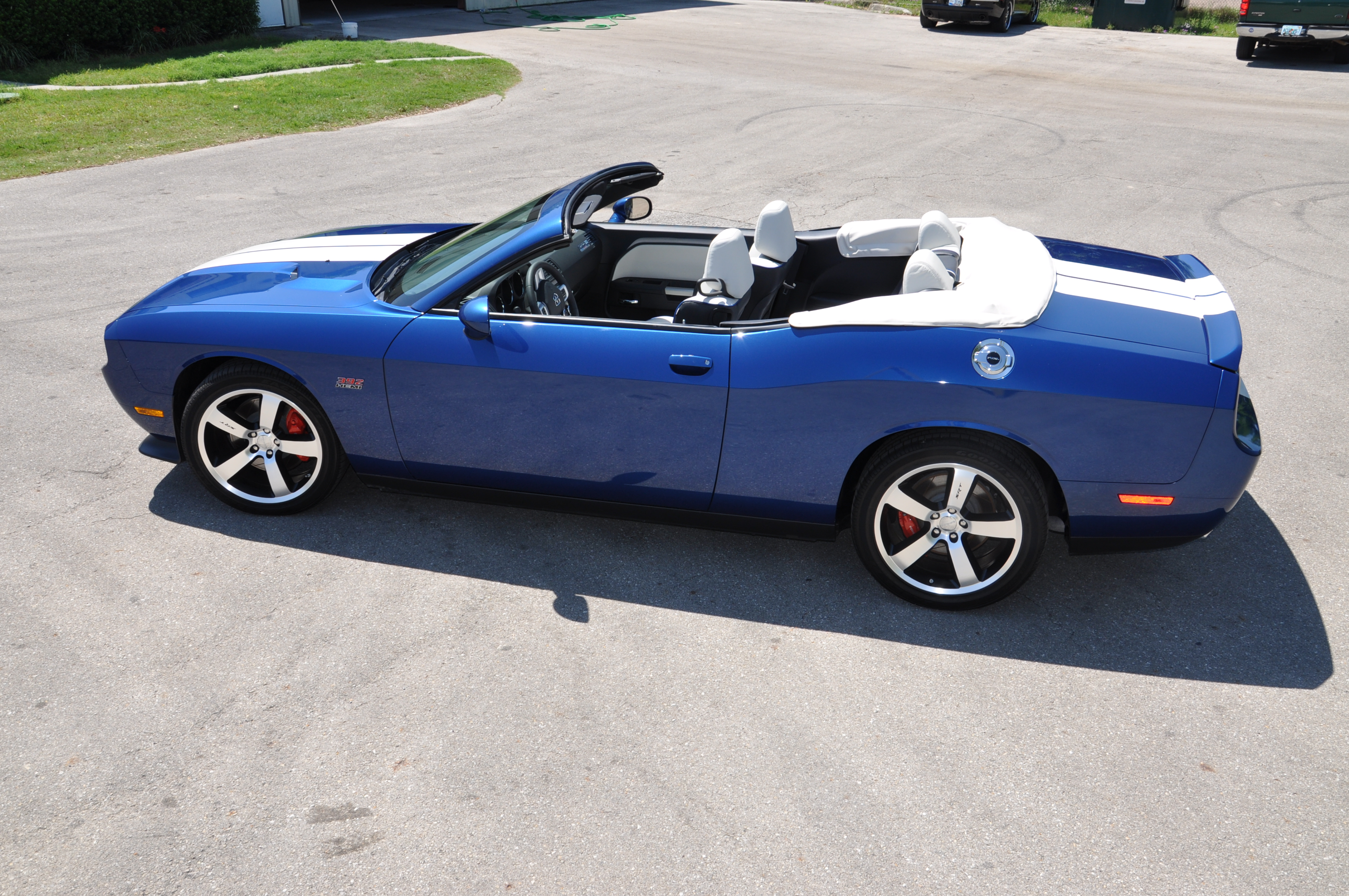 Blue Stripe Dodge Challenger Convertible