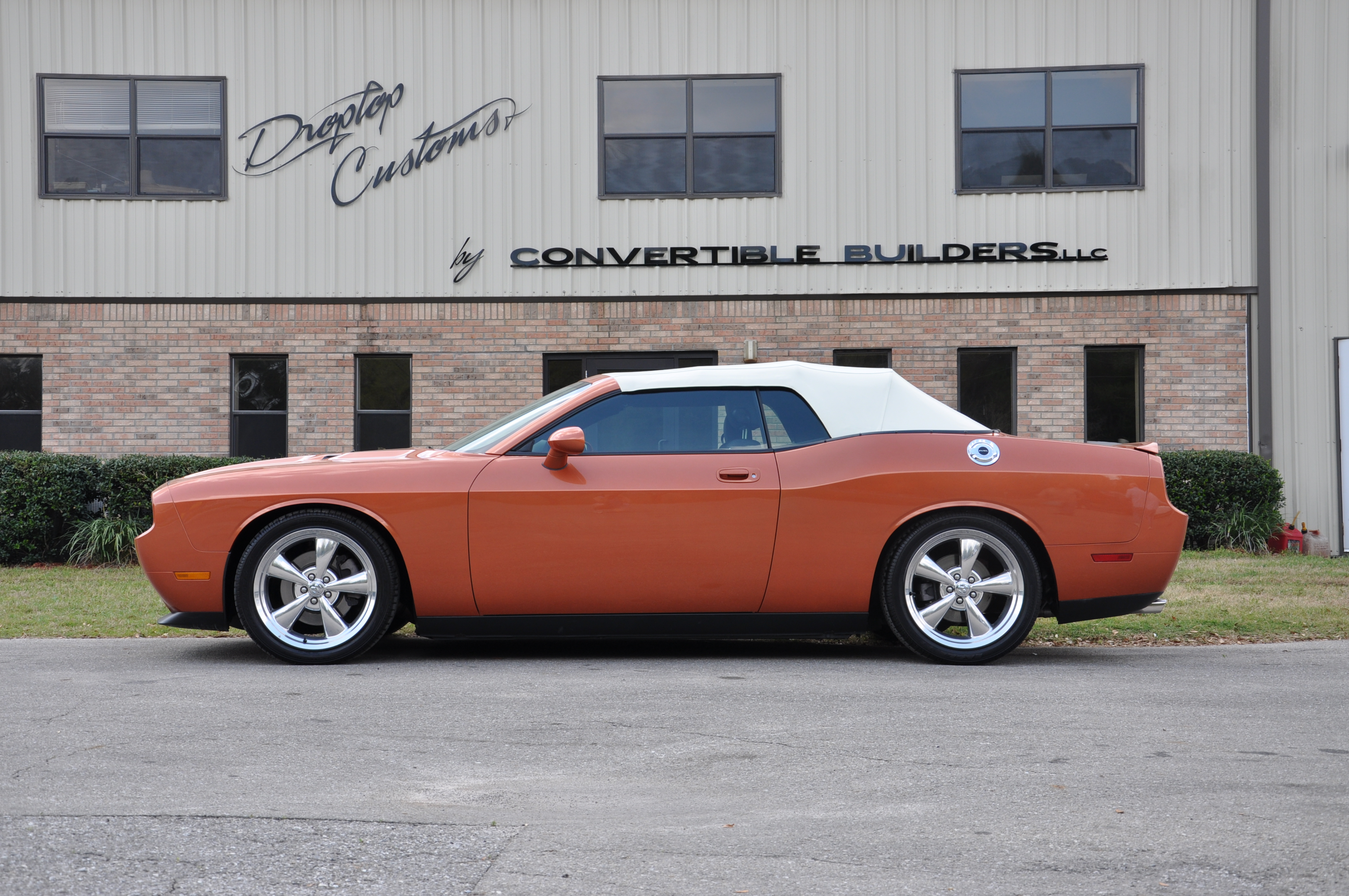 Burnt Orange Dodge Challenger Convertible