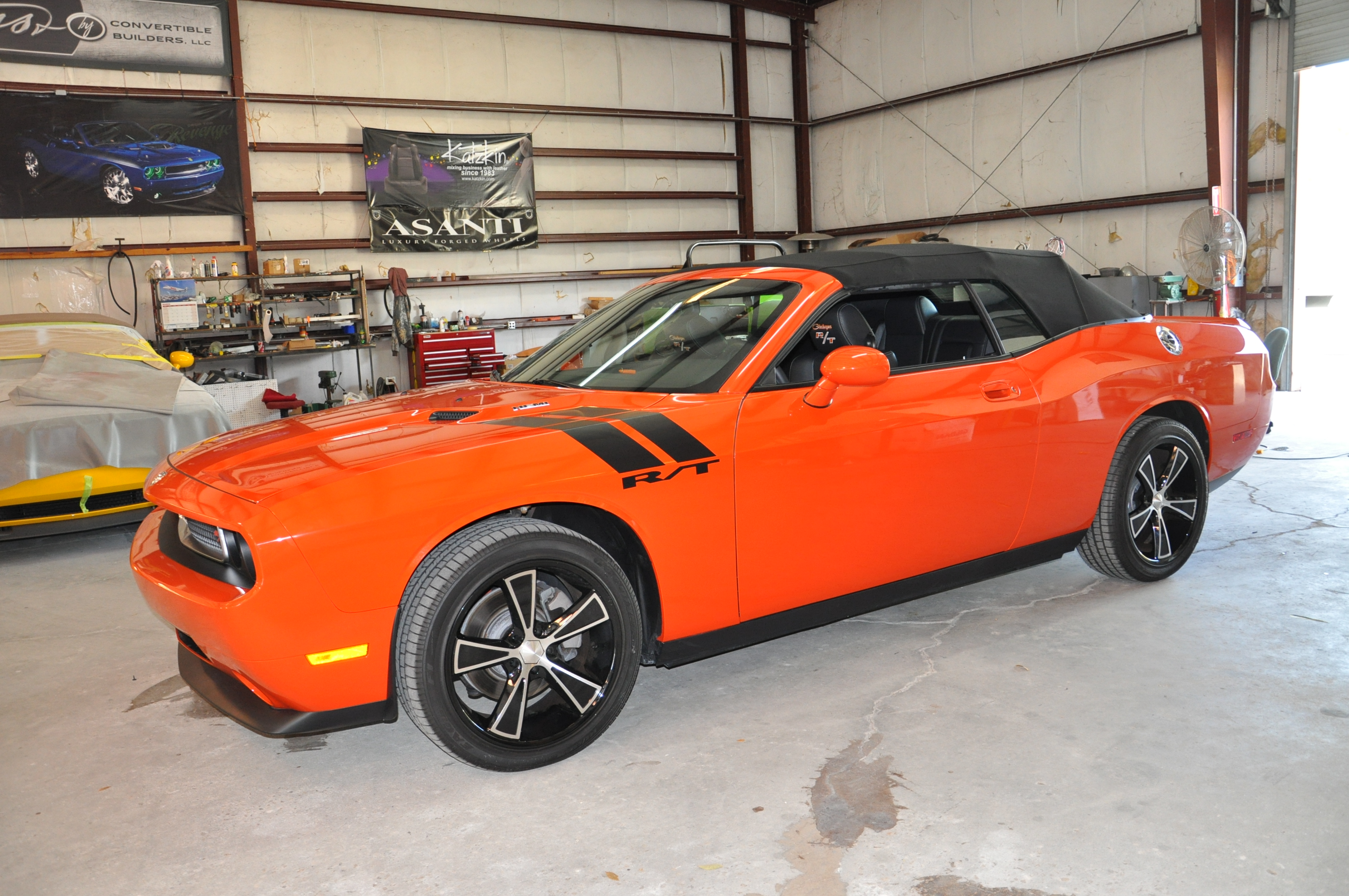 Orange Dodge Challenger Convertible