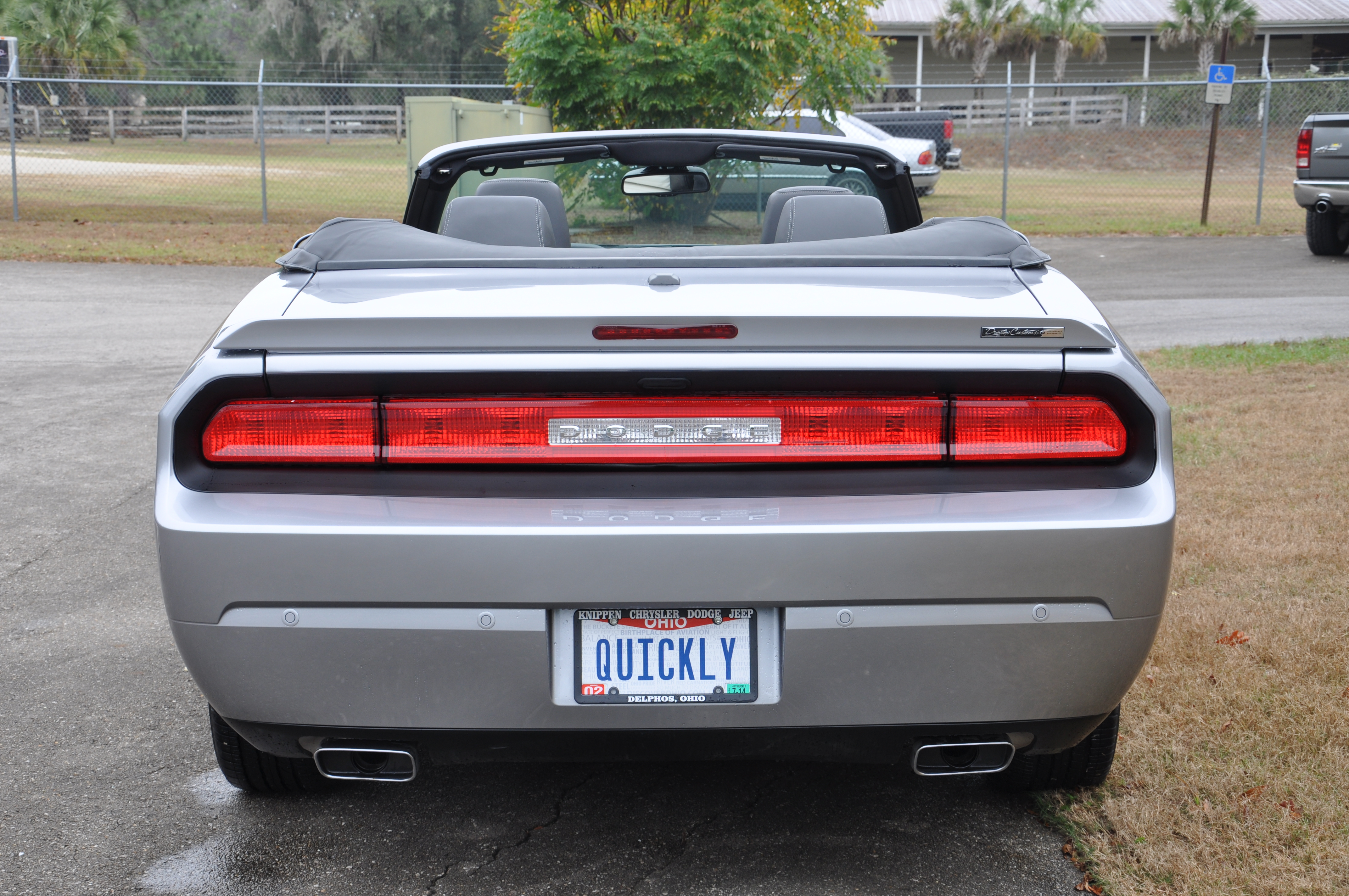 Silver Dodge Challenger Convertible