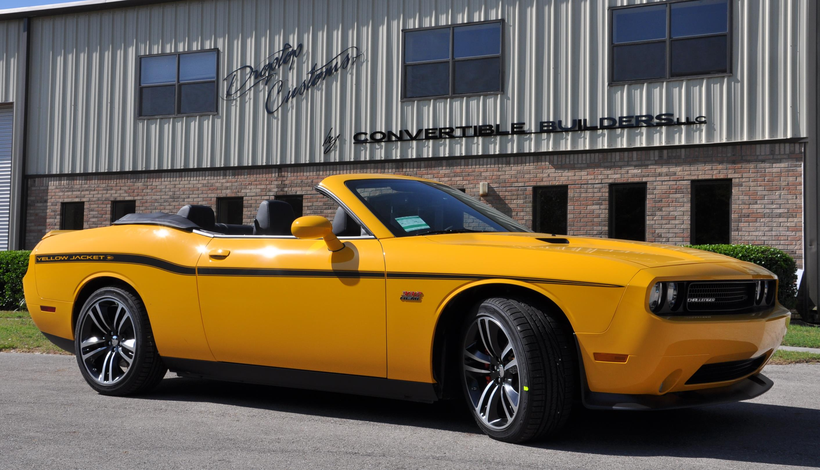 Yellow Dodge Challenger Convertible