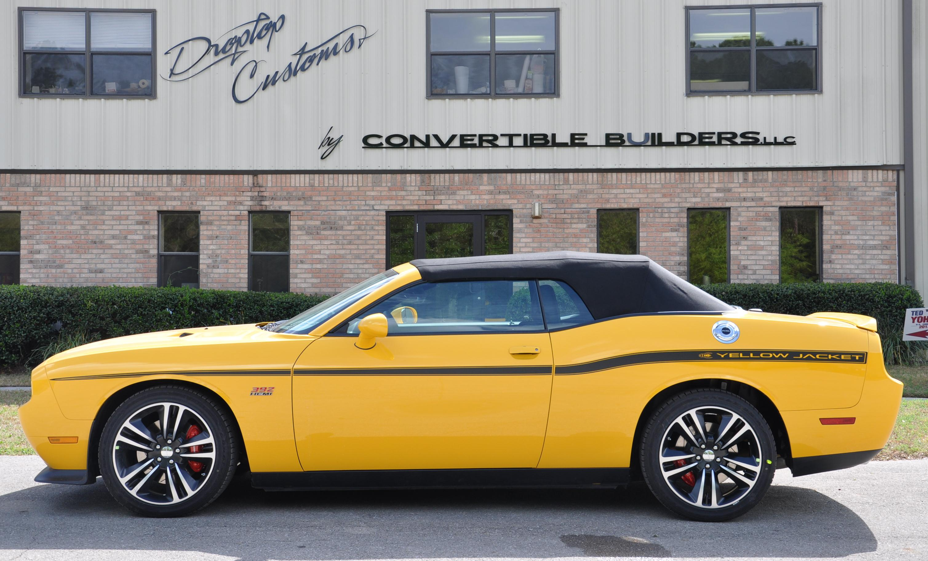 Dodge Challenger Convertible Yellow jacket top up