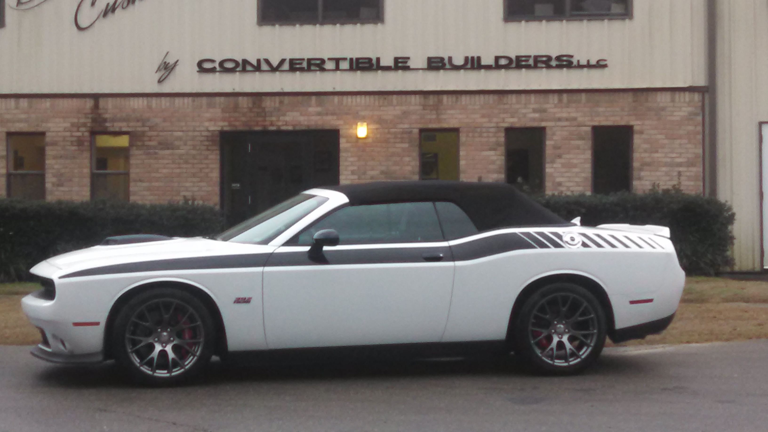 White Dodge Challenger Convertible