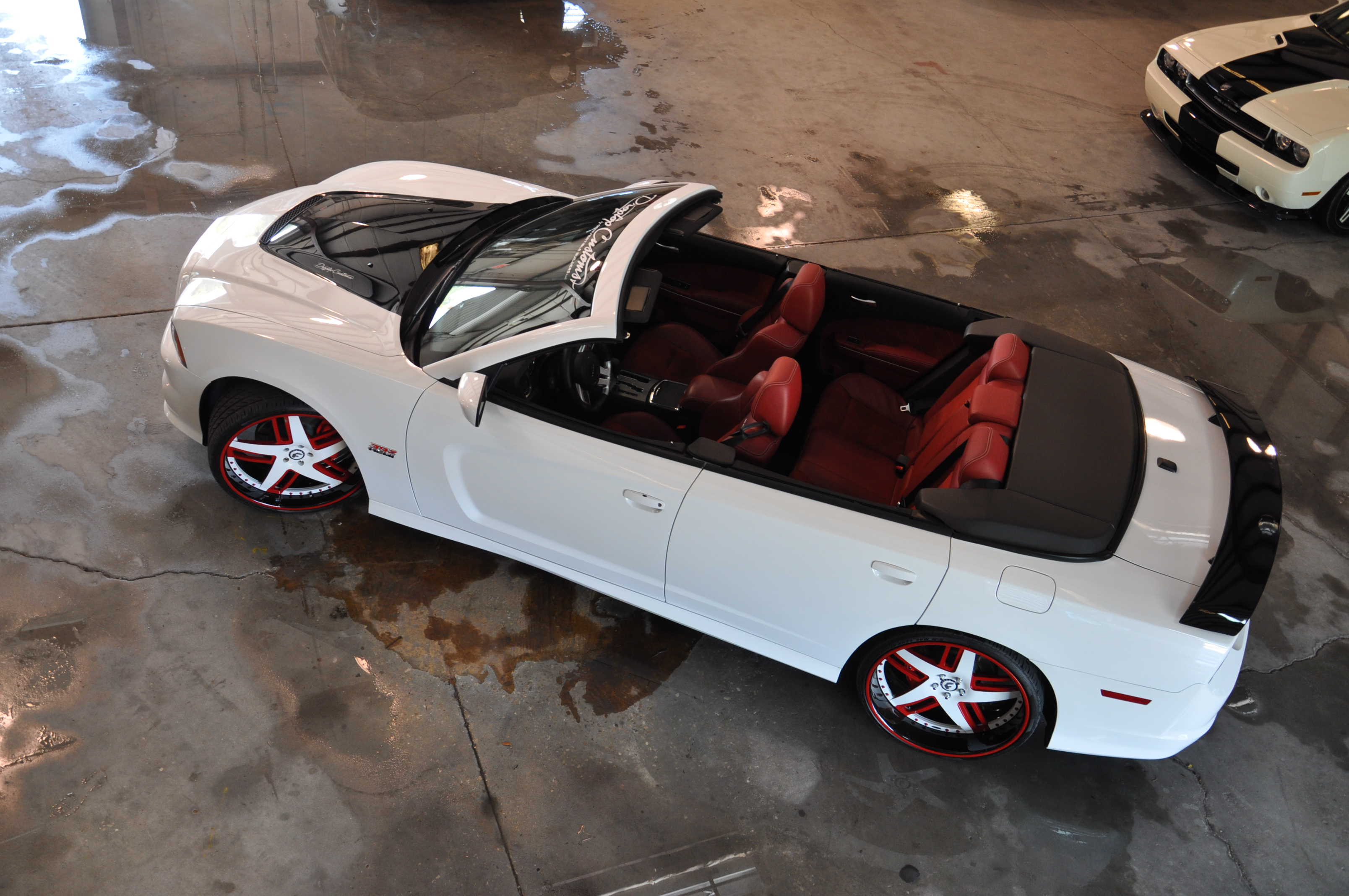 Dodge Charger Convertible Aerial Top Down