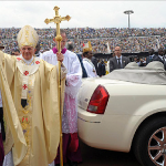Boston.com Pope in Cameroon with 300