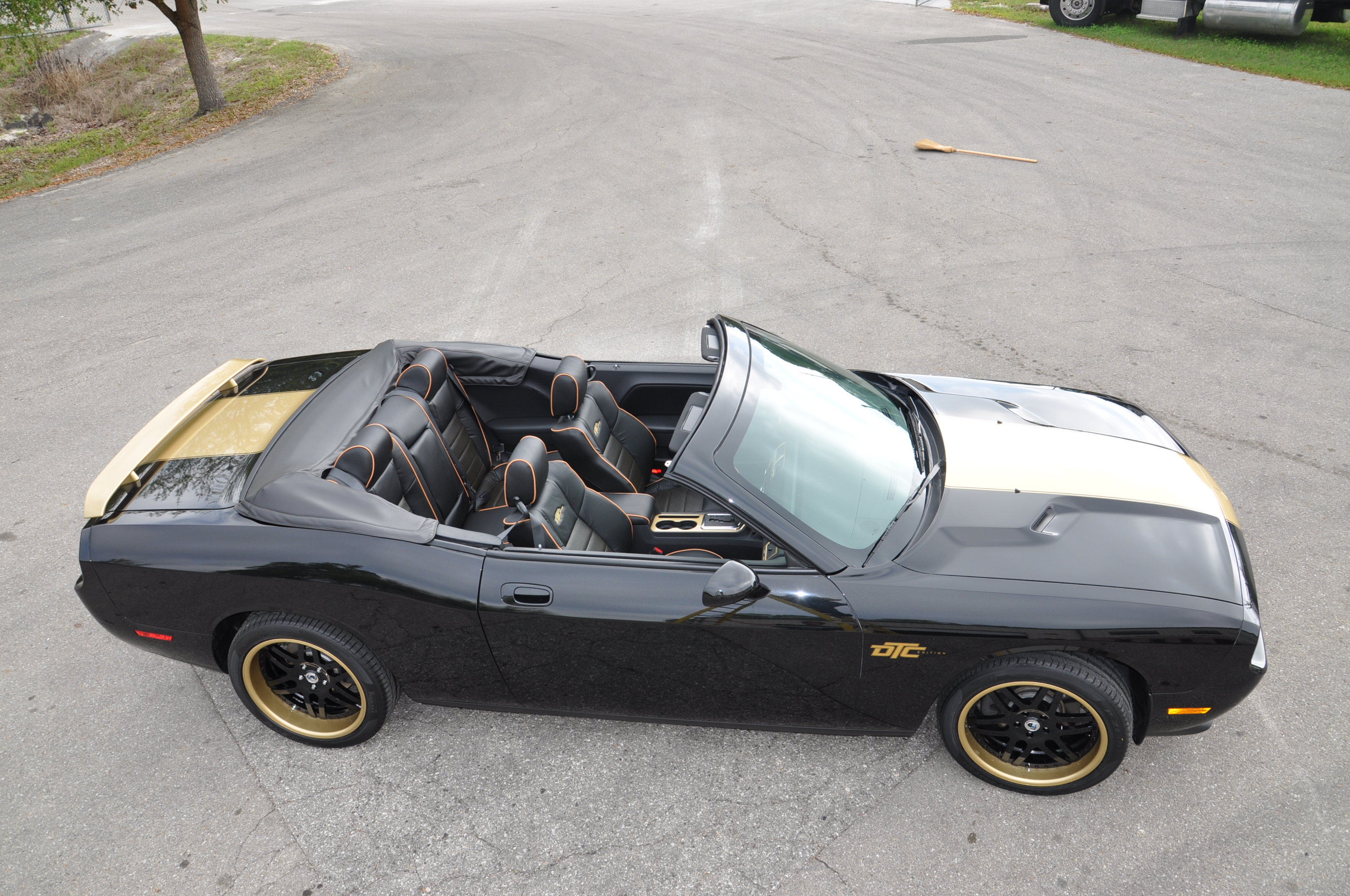 Black and Gold Dodge Challenger Convertible
