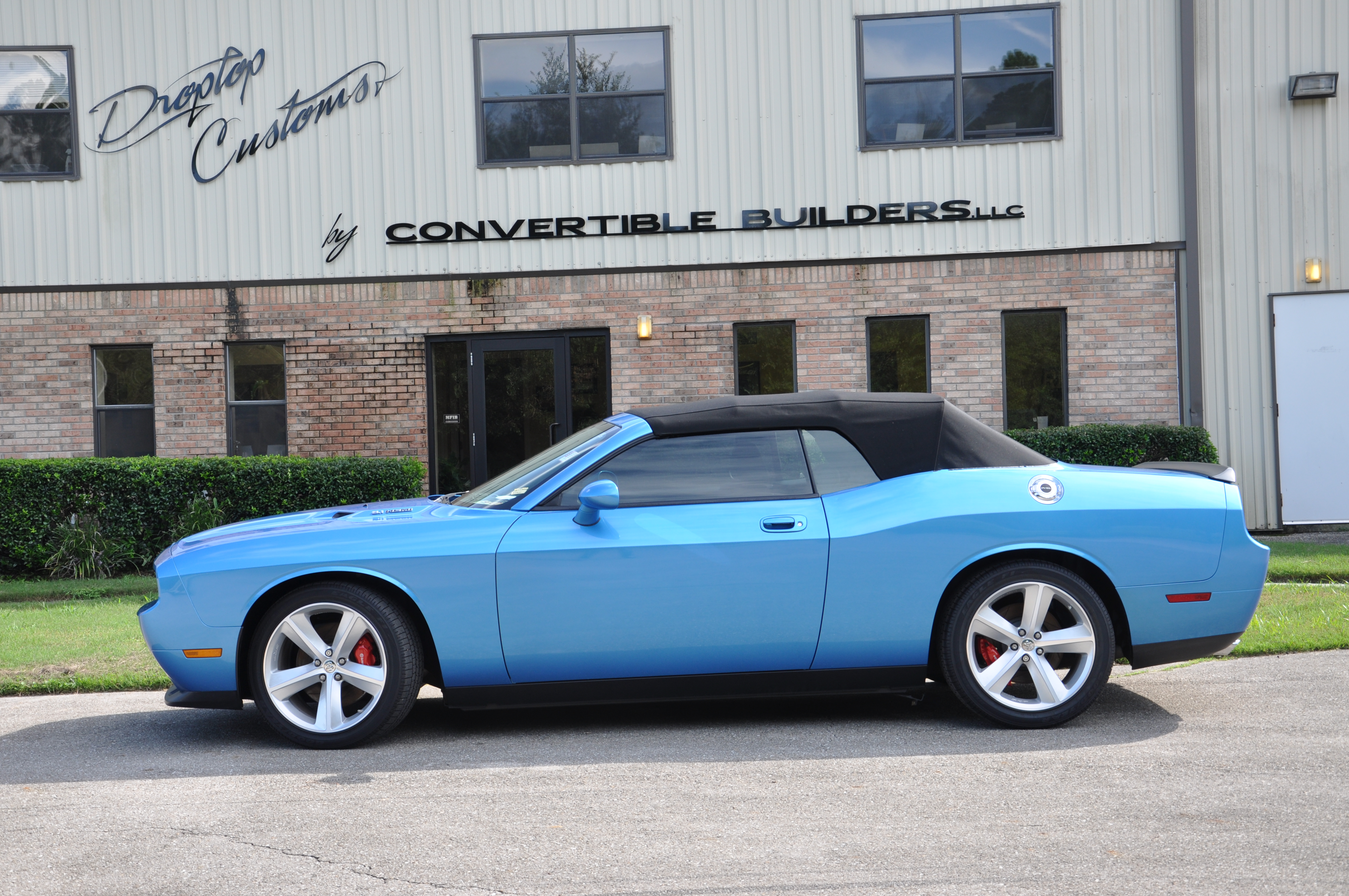 Blue Dodge Challenger Convertible